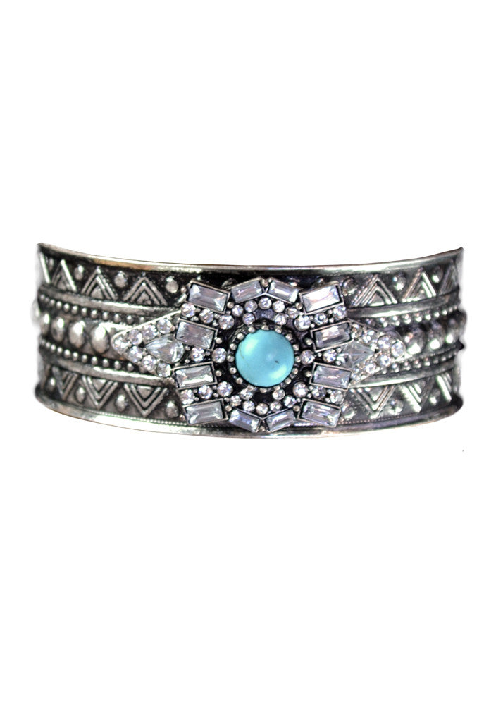 Marbella Turquoise Crystal Cuff Bracelet