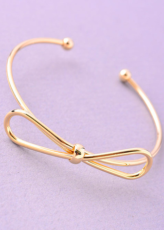 Dainty Bow Bangle Bracelet