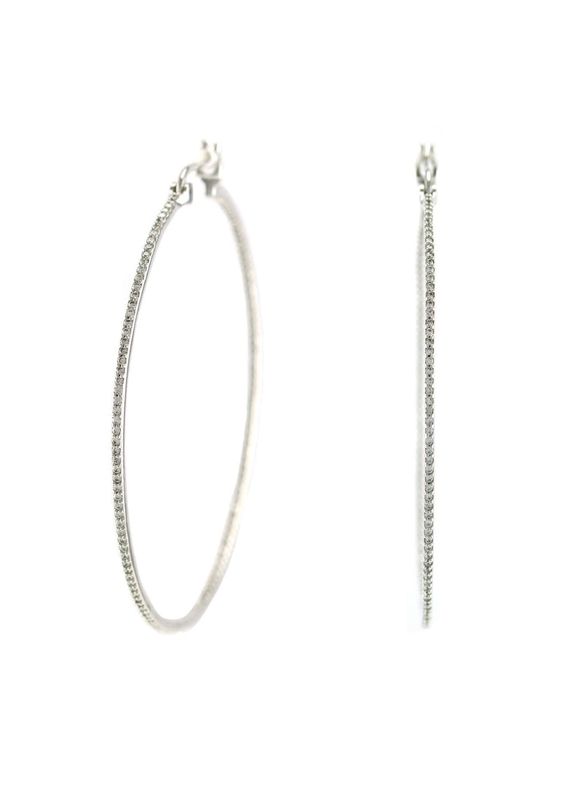 Crystal CZ Hoop Earrings