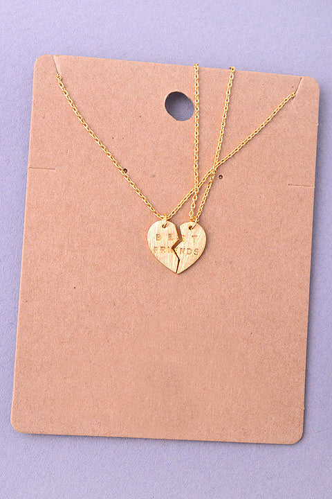 Best Friends Heart Two-Piece Necklace