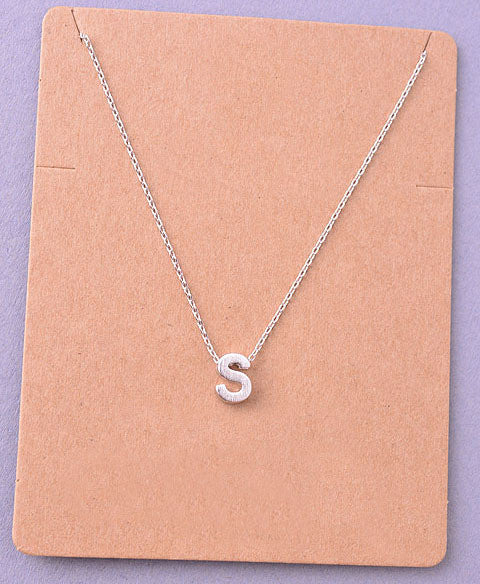 Dainty Initial Letter Alpha Pendant Necklace
