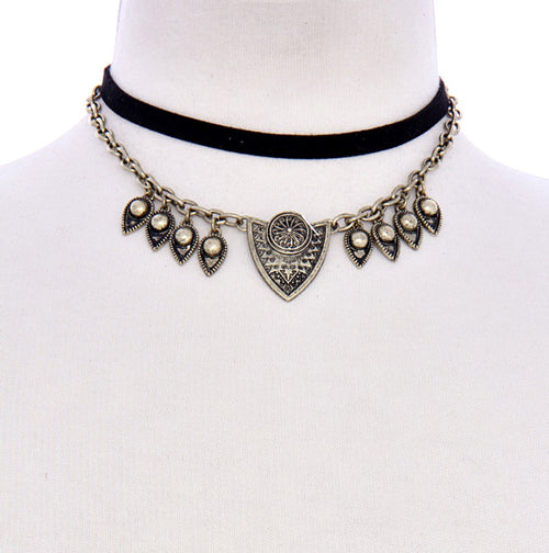 Bohemian Dream Metal Choker Necklace Set