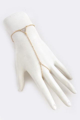 Crystal Triangle Hand Chain