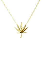 420 Mari Leaf Gold Necklace