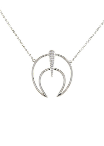 Crystal Crescent Horn Crystal Necklace
