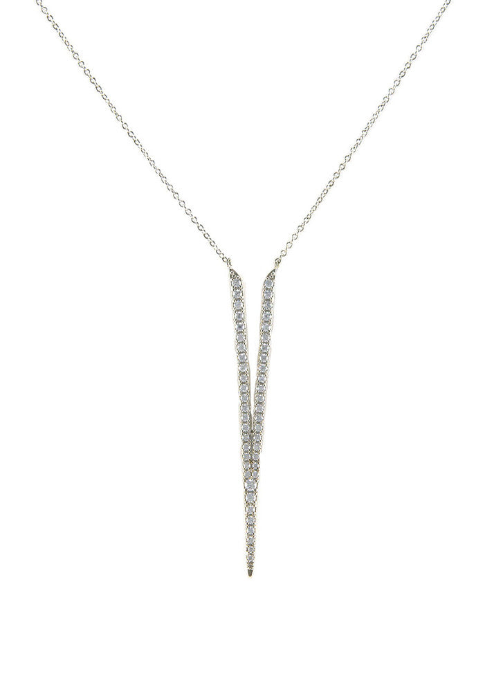 I'm Yours Crystal V Necklace - Silver