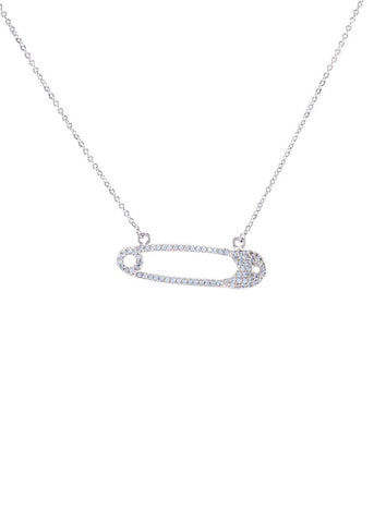 Lucky Crystal Horseshoe Necklace