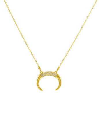 Two Tone Handcuff Necklace