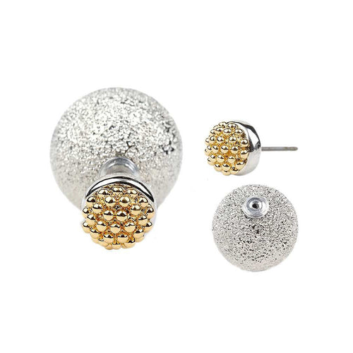 Rich Girl Peekaboo Double Sided Earrings