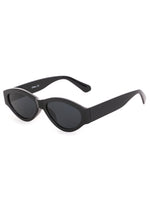 Kendall Slim Oval Sunglasses Black
