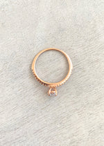 Rose Gold CZ Oval Ring