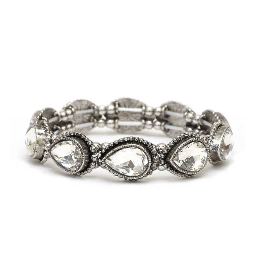 Antique Crystal Teardrop Bracelet