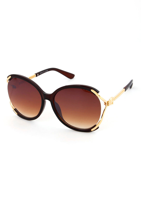 Donna Lux Oversized Sunglasses Brown Lens