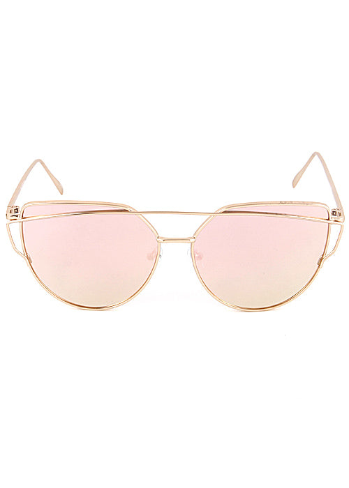 The One Mirrored Cateye Aviator Sunglasses - Rose Gold