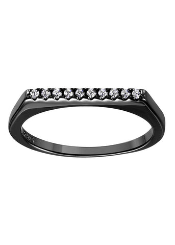Diana Sterling Silver Round Crystal Ring