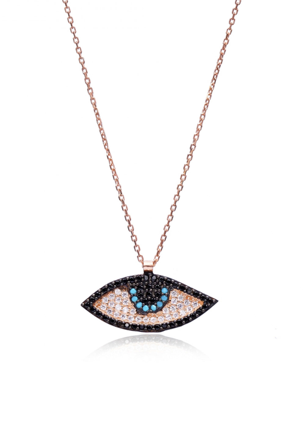 Be Gone Crystal Evil Eye Necklace