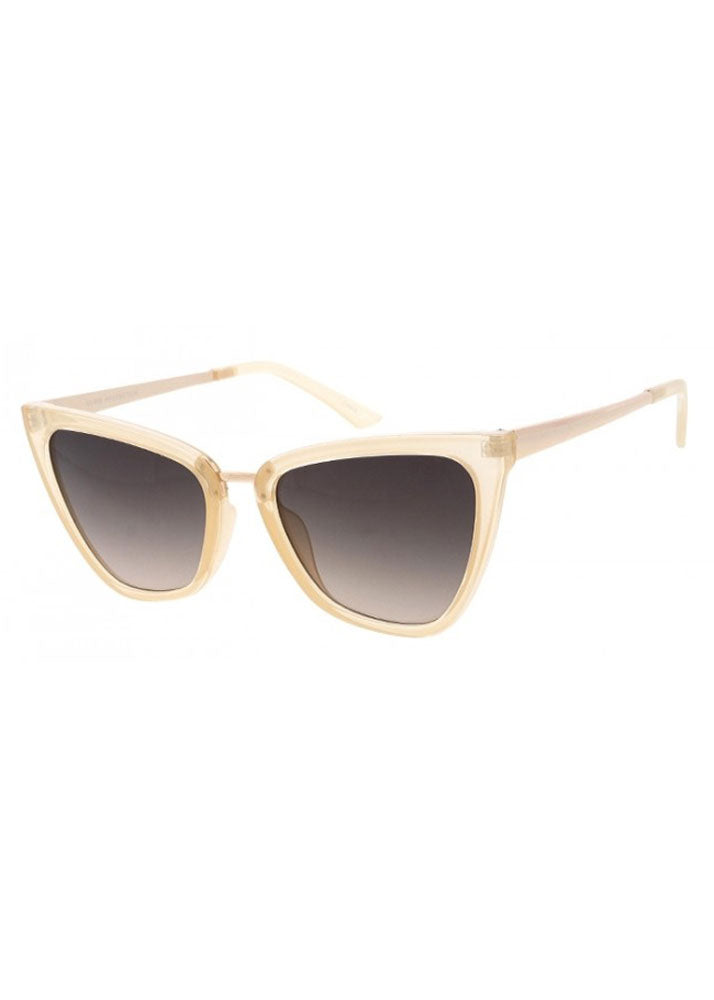 Gigi Cat Eye Sunglasses Clear Beige