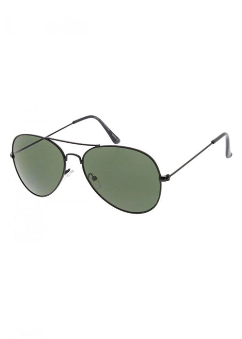 Stop & Stare Rimless Round Black Sunglasses