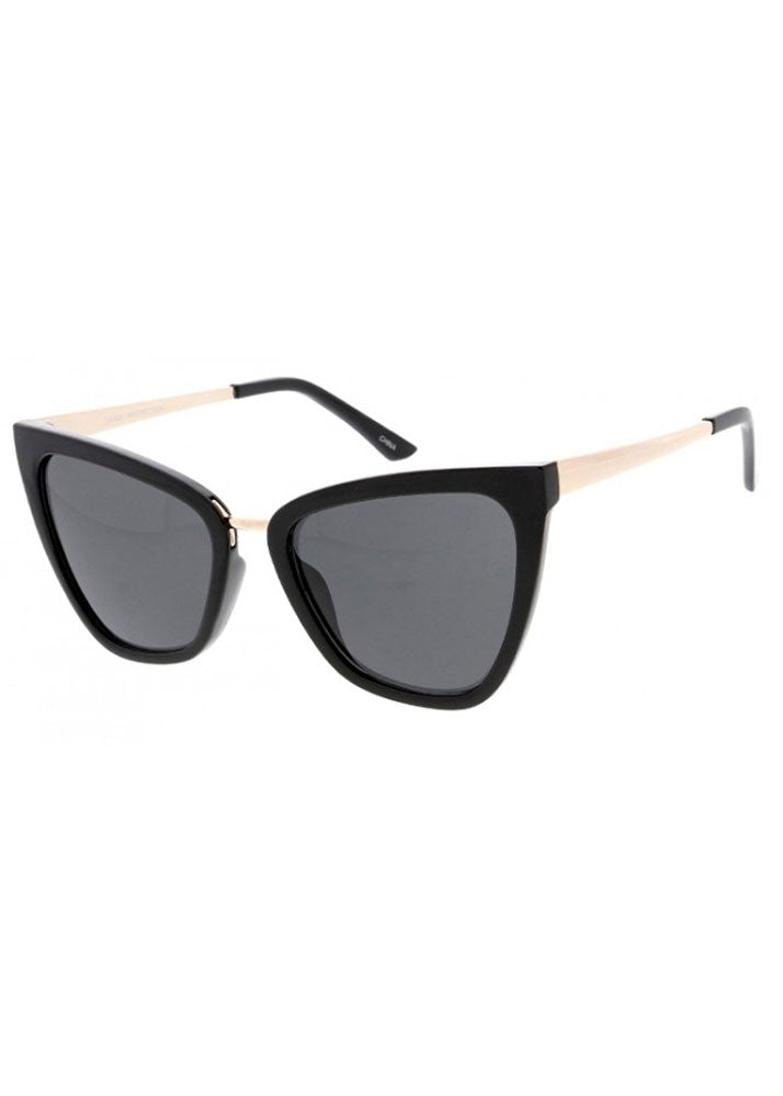 Gigi Cat Eye Sunglasses Black Gold