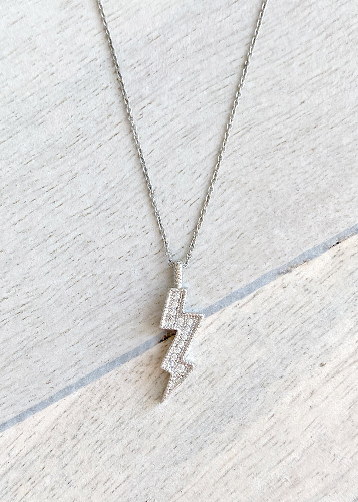 Dainty Crystal Lightning Bolt Necklace