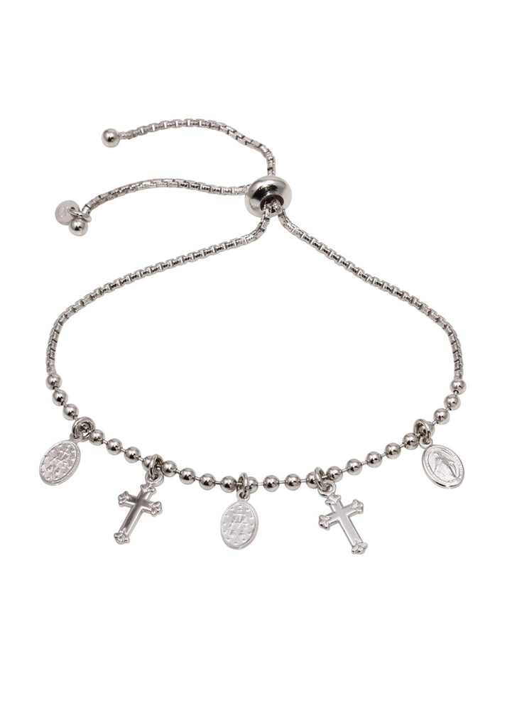 Like A Prayer Sterling Silver Pull Bracelet