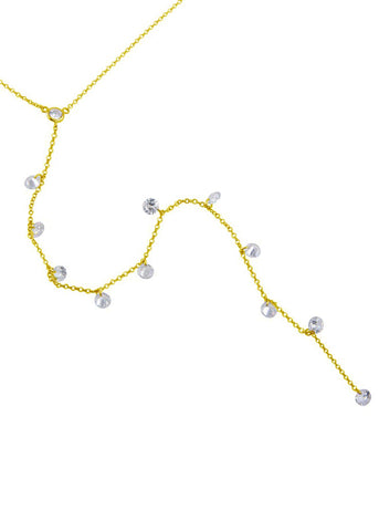 Crystal V Lariat Necklace