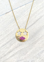 Kiss Emoji Necklace