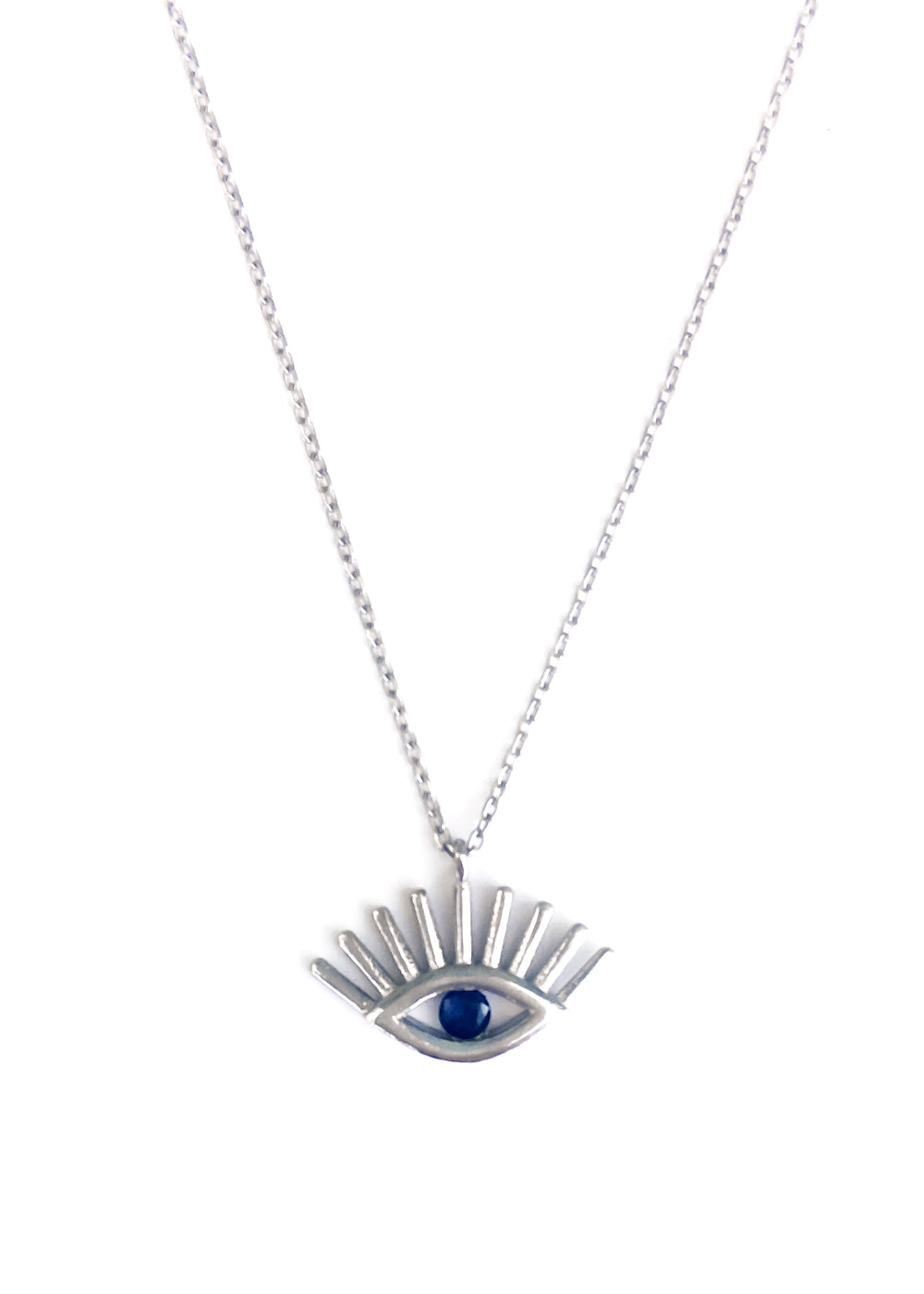 All Eyes On You Silver Necklace
