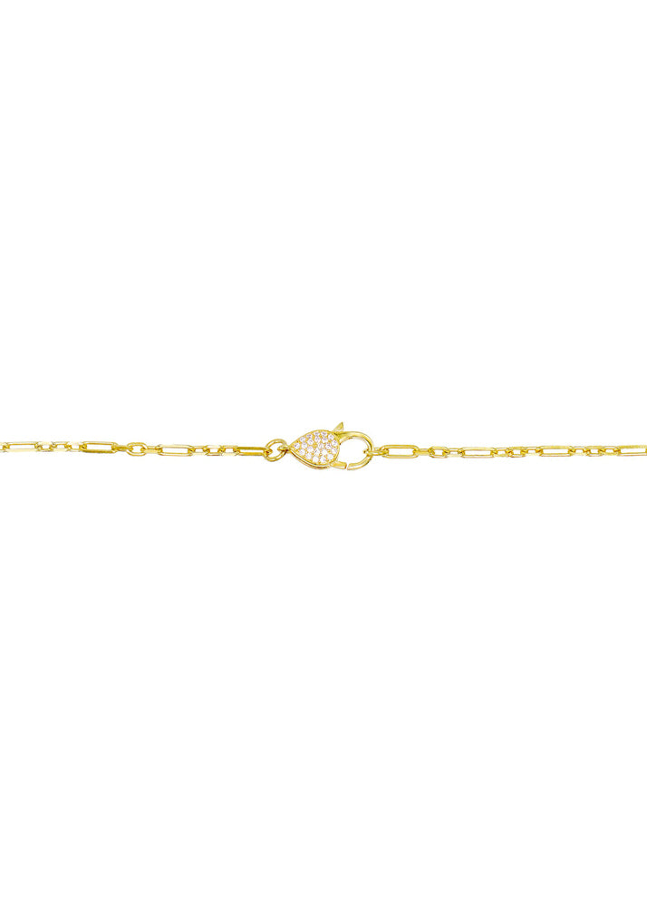 Delicate Crystal Front Clasp Choker Necklace