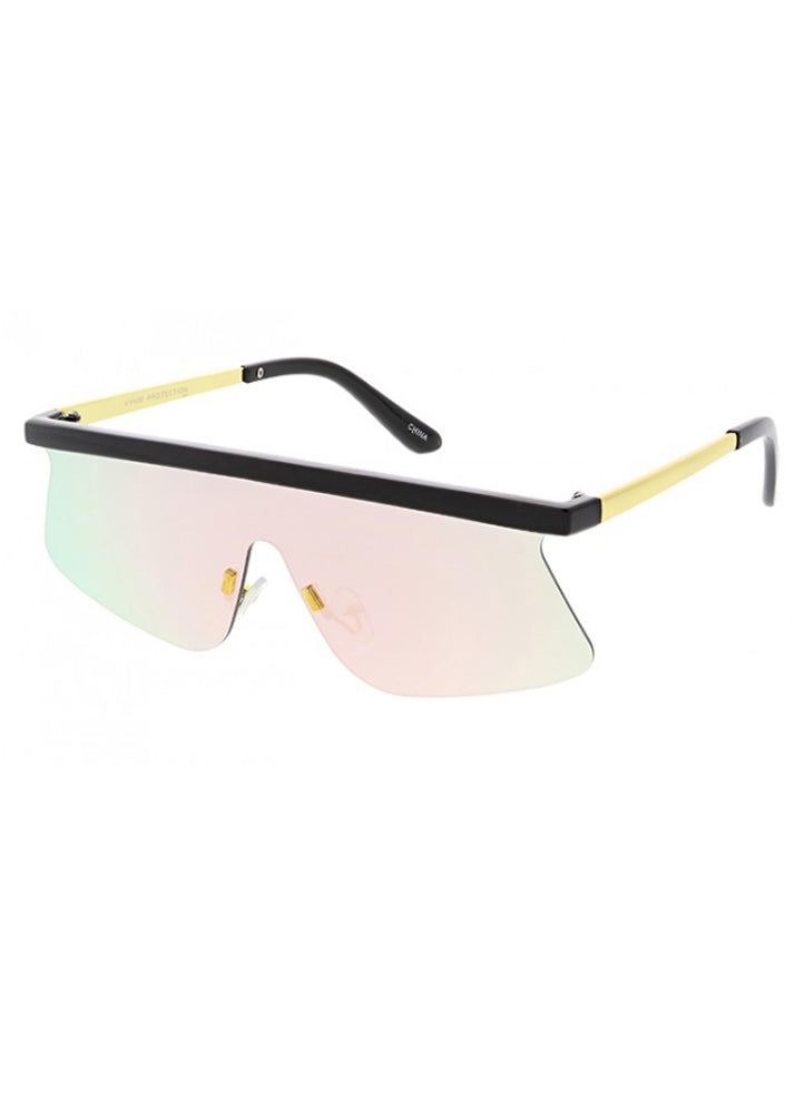Flash Future Mirrored Sunglasses - Pink Mirrored Lens