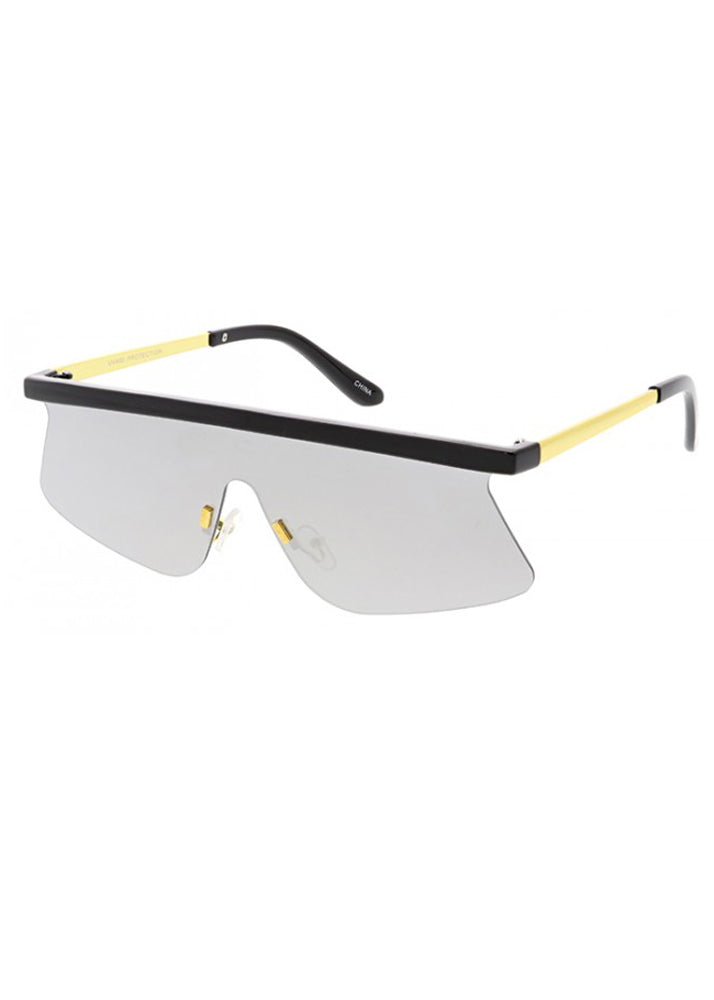Flash Future Mirrored Sunglasses - Mirrored Lens
