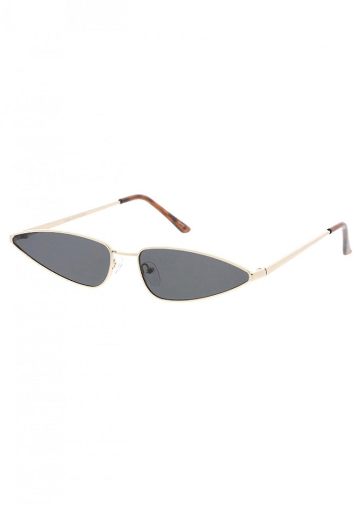 Slim Metal Cateye Frames - Gold/Black