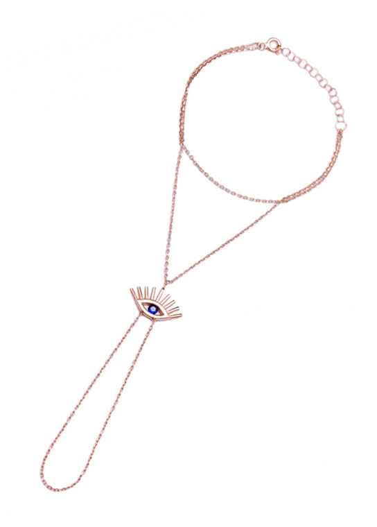 All Eyes On You Rose Gold Hand Chain