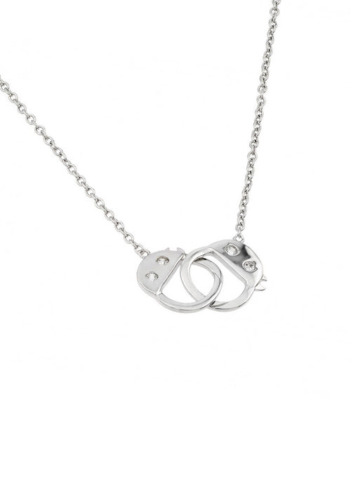 Dainty Handcuff Sterling Silver Necklace