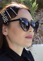 Lola Heart Frame Sunglasses Black