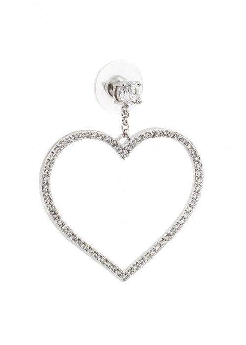 Love Me Crystal Heart Drop Earrings