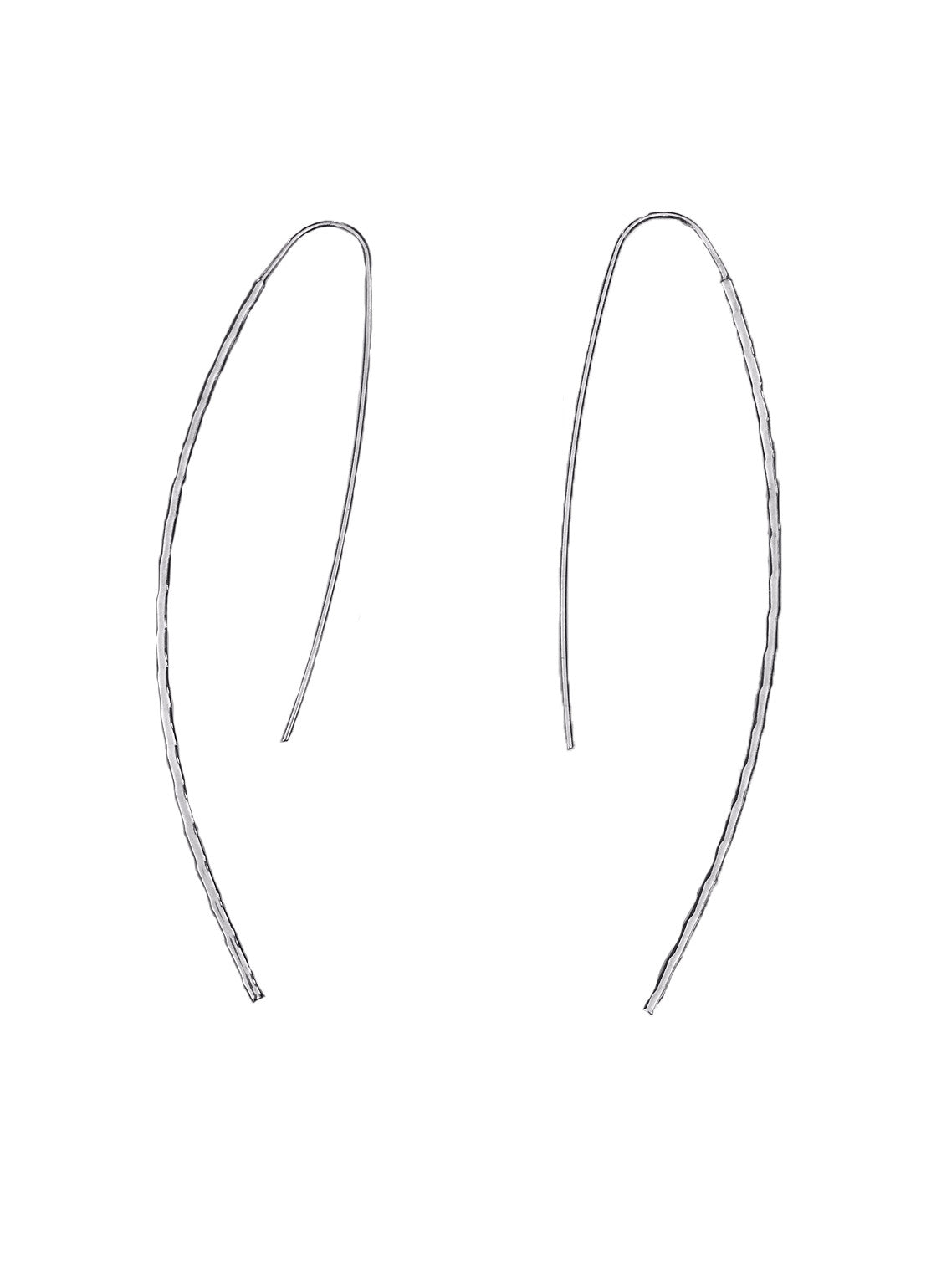 Roxy Silver Hook Earrings