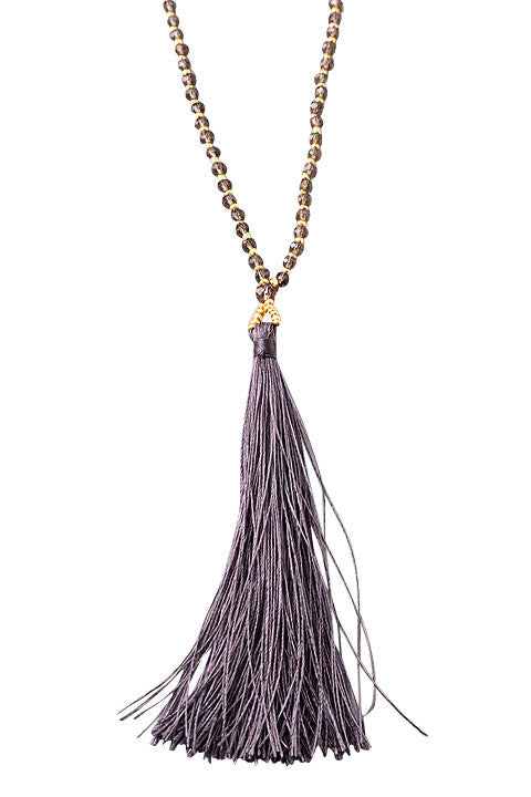 Indie Smoke Boho Beaded Tassel Necklace