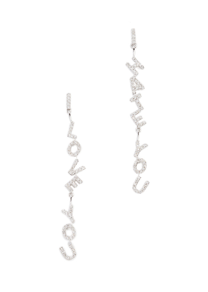 I Love You I Hate You Earrings Sterling Silver