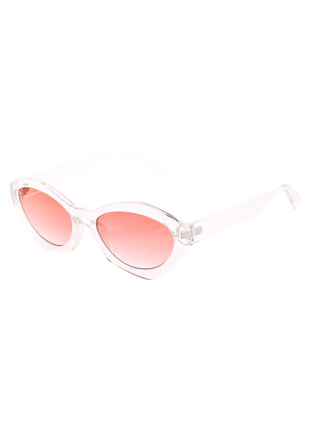 Milan Geometric Spectrum Sunglasses - Clear