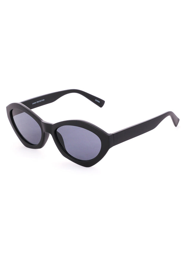 Milan Geometric Spectrum Sunglasses - Matte Black
