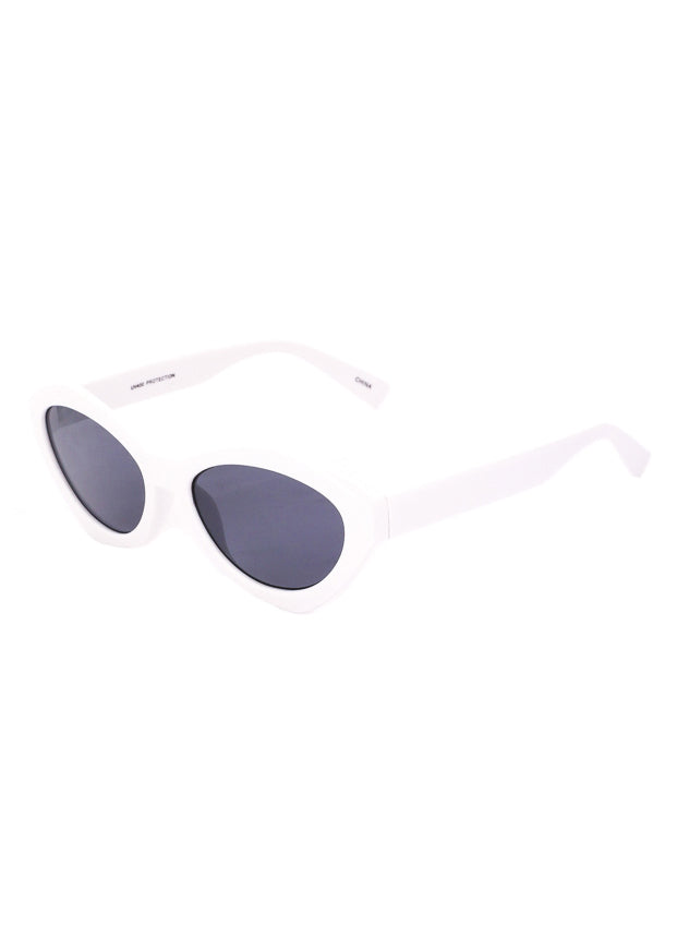 Milan Geometric Spectrum Sunglasses - White
