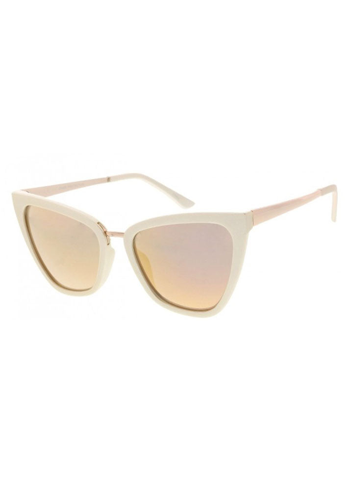 Mirrored Lens Pearl Beige
