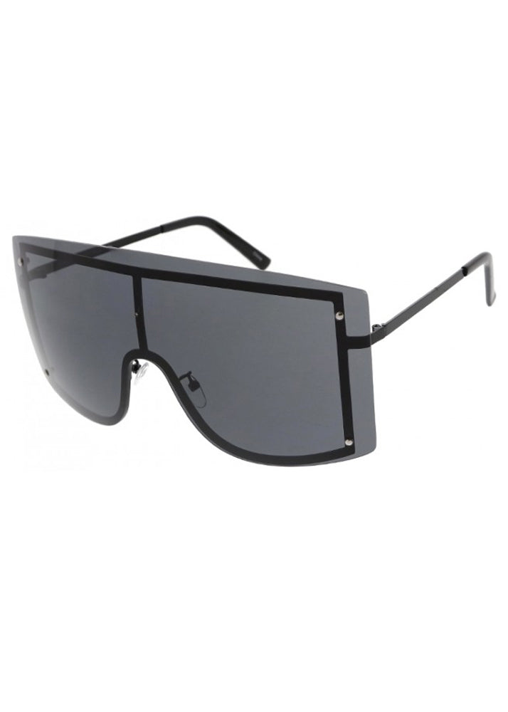 Shield Me Oversized Sunglasses - Black
