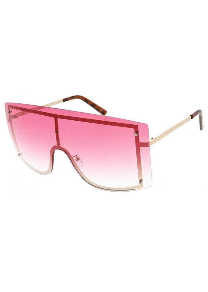 Shield Me Oversized Sunglasses - Pink