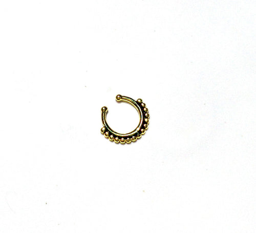Antique Gold Faux Septum Nose Ring