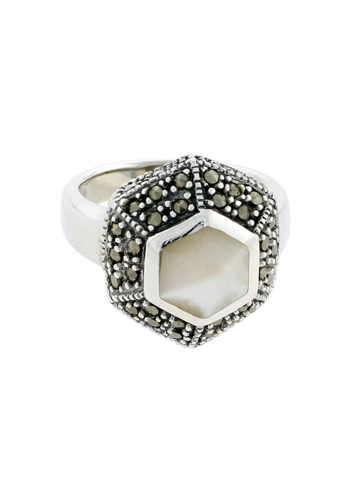 Divine Dreamer Mother of Pearl Ring