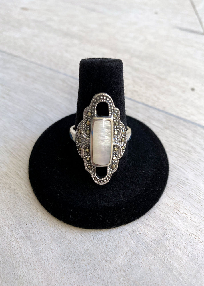 Art Deco Dreams Mother of Pearl Ring