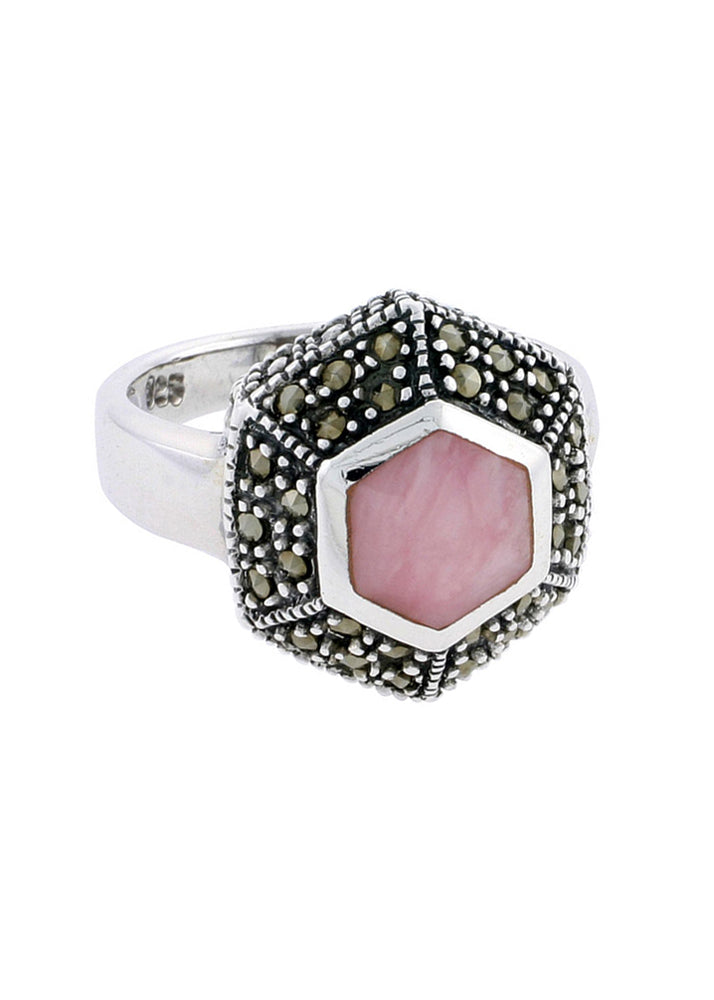 Divine Dreamer Mother of Pearl Ring - Pink