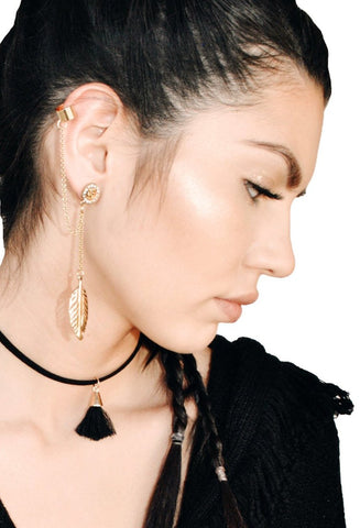 Crystal In & Out Hoop Earrings